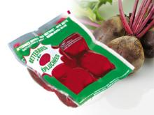 Vacuum-packed cooked red beet